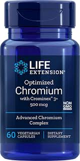<b>Optimized Chromium with Crominex</b> 3+, 500 mcg, 60 vcaps (Pack of 2)