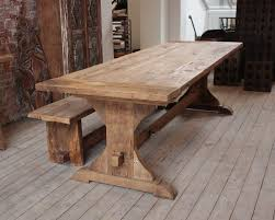 real rustic kitchen table long:  elegant rustic dining table at its best wolfleys and wood dining room tables