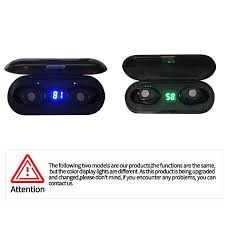 <b>F9 TWS</b> Wireless Bluetooth 5.0 Earphones Battery LED Display With ...