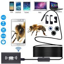 <b>WIFI Endoscope</b> Camera <b>1200P</b> 8mm <b>wireless</b> Endoscopio ...