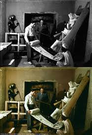 images show king tutankhamun s tomb in colour for the first time howard carter left arthur callender center and an ian worker