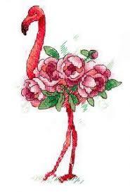 """Вышивка на одежде """"Фламинго"""", цена 385 руб, купить в России ..."""