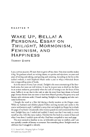 wake up bella a personal essay on twilight mormonism feminism inside