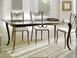 Nice Dining Room Tables Tavolino Ottagonale Con Piano In Vetro E Base In Bronzo O Zinco