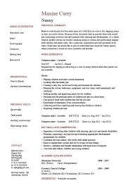 nanny resume  example  sample  babysitting  children  professional    nanny resume  example  sample  babysitting  children  professional skills  jobs