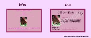 how one of our fans easily created her own gift voucher template the before after of a gift voucher template