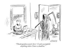 Image result for deadline cartoon new yorker