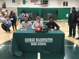 george washington achievements national signing day at george gwhs george washington high school national signing day at george