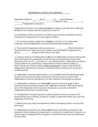 independent contractor agreement forms templates independent contractor agreement 02