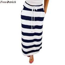 Womens Fashion Stripe High Waist Maxi Long <b>Skirt</b> Product ...