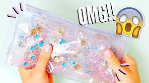 DIY LIQUID GLITTER WATERFALL <b>PENCIL CASE</b> | Back to School ...