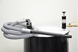 <b>Dual</b>-Force Vac Drum Pump for Liquid Material Handling & Clean Up