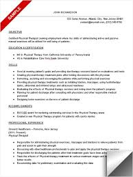 physical therapist resume sample resume objective for physical    physical therapist resume sample resume objective for physical therapy aide