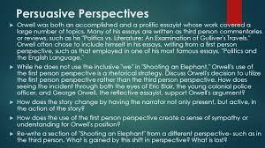 i often wondered whether any of the others grasped that i had done 12 persuasive perspectives
