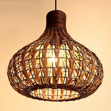 "Handmade 14"" <b>Modern Rattan</b> Ceiling <b>Pendant Lamp</b> Living Lights ..."