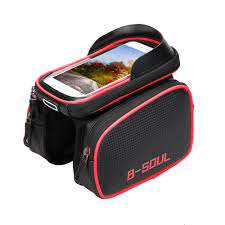 B SOUL <b>Bike Bag Waterproof TPU</b> Touch Screen MTB Road Bicycle ...