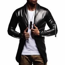 <b>Hot Sale</b> Night Club Leather Jacket Men New Fashion Slim Fit ...