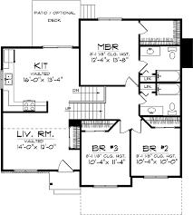 Economical Home Plan   AH   st Floor Master Suite  CAD    Floor Plan