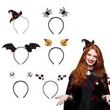 Morfong 6 Pieces <b>Halloween</b> Headbands Pumpkin <b>Ghost Pattern</b> ...