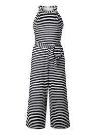 EZIGO Women Striped Jumpsuit Wide Leg Sleeveless ... - Amazon.com