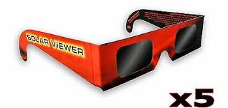 x5 Solar <b>Eclipse</b> Glasses Sun Shades Thousand Oaks Optical Black ...