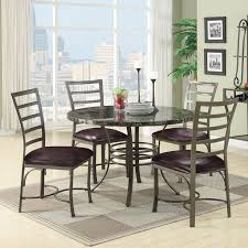 marble dining room table darling daisy: acme furniture daisy  piece round faux marble dining table set black