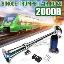 12V 200DB Super Loud Single <b>Trumpet Car Air</b> Horn Tone ...