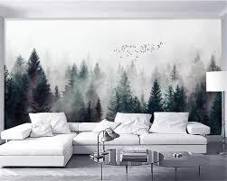 <b>Beibehang Custom wallpaper Modern</b> high quality foggy forest ...