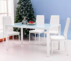 dinette chairs set white dining table
