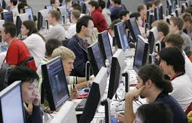 the highest paid workers in silicon valley are not software contestants in the 2006 google global code jam stare at their computer screens at google s new