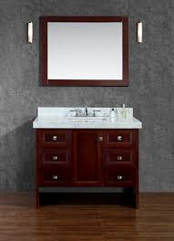 traditional style antique white bathroom:  ariel seacliff beckonridge quot single sink bathroom vanity set simple