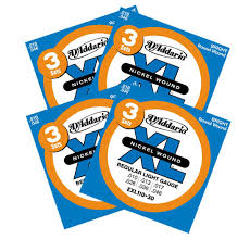 D'Addario XL Nickel Wound <b>Electric</b> Guitar Strings - <b>12 Pack</b>