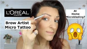 <b>L'oreal brow artist micro</b> tattoo | Review and demo - YouTube