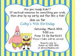 th birthday ideas birthday invitation template spongebob birthday invitation template spongebob