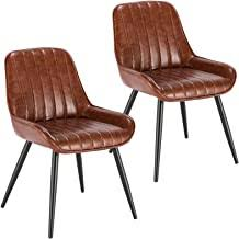 Dining Chairs - Faux Leather / Dining Chairs / Dining ... - Amazon.co.uk
