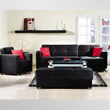 modern living room black and red black and red furniture