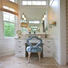 makeup vanity set with lights bathroom traditional with blue chair board and batten chair rail custom bathroom lighting ideas dress mirror