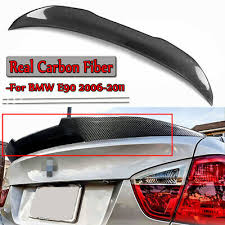 <b>REAL</b> Carbon Fiber <b>PSM Style</b> Rear Trunk Spoiler For For 06-11 ...