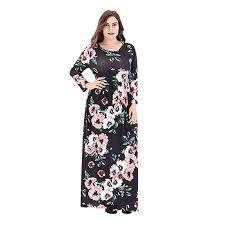 Meijunter Womens Plus Size Boho Flower Printed <b>Dress</b> - <b>Long</b> ...