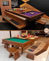 pool table dining tables: this is a great example of how a bit of creativity allows you to have the best of both worlds a great dining table and a pool table for when the