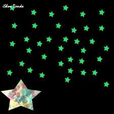 100pc kids bedroom fluorescent glow in the dark stars wall stickers luminous luminous glow sticker color