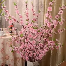 2019 <b>65CM Artificial Cherry</b> Spring Plum Peach Blossom Branch ...