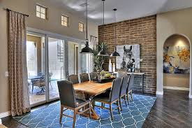 dining room style blue wall colors  industrial style dining room with a hint of blue design maxim lightin