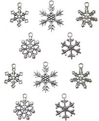 200pcs Mixed Snowflake Charms Pendant Antiqued ... - Amazon.com