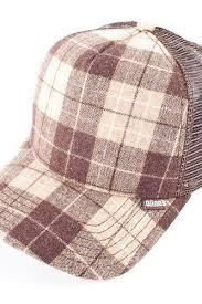 Бейсболка DJINNS Hft Wool Check (Brown, O/S) | www.gt-a.ru