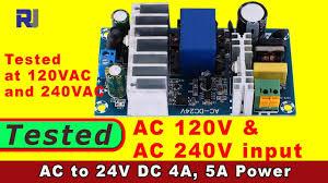 Review of <b>AC 100-240V To DC</b> 24V 4A-6A Switching Power Supply ...