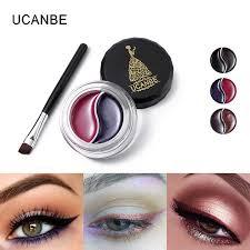 UCANBE Brand <b>2 In1</b> Eyeliner Gel With Makeup Brush Shimmer ...