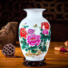 Jingdezhen Antique <b>Chinese</b>-<b>style</b> Home <b>Ceramic Vase</b> +Base 4 ...