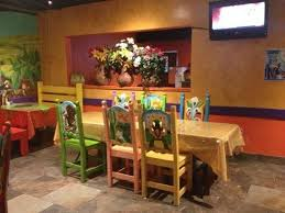 joses mexican grill brightly colored painted chairs bright painted furniture