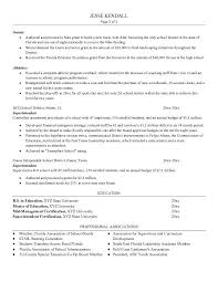 sample resume example resume template for superintendent with professional associations sample superintendent resume template superintendent resume